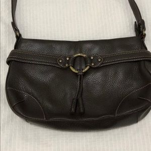 The SAK Brown Leather Shoulder Bag